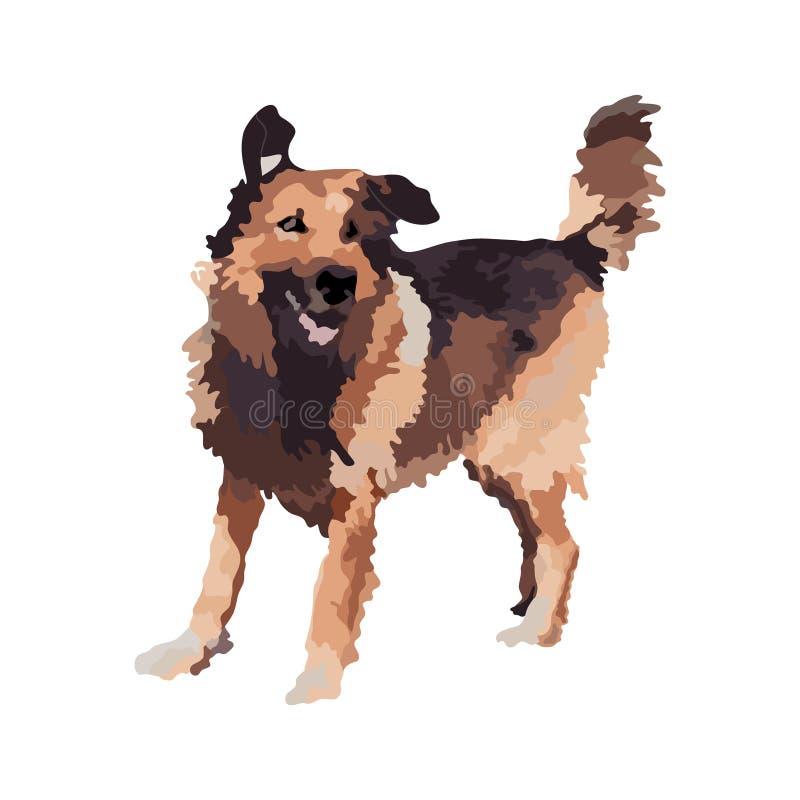 Ejemplo hermoso del vector del perro libre illustration