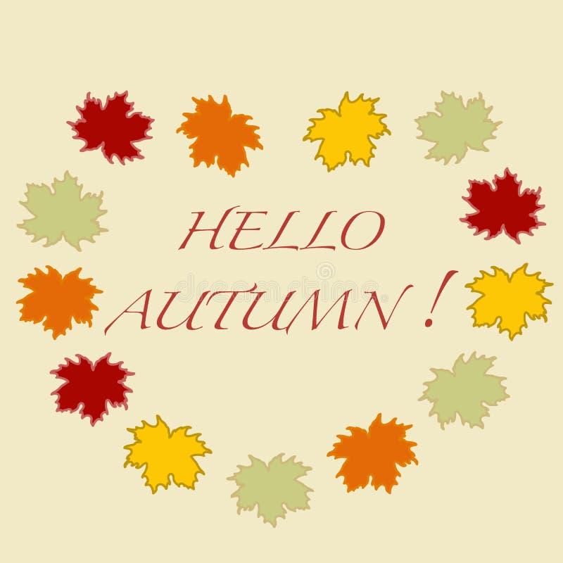 Ejemplo hermoso en un tema del otoño: marco del leav del arce ilustración del vector