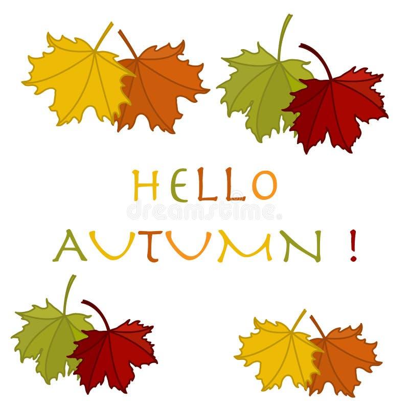 Ejemplo hermoso en un tema del otoño: marco del leav del arce libre illustration