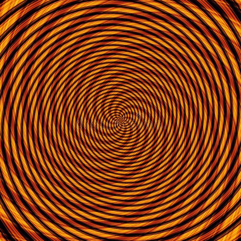 Ejemplo hipnótico de la ilusión abstracta del fondo, engaño colorido libre illustration