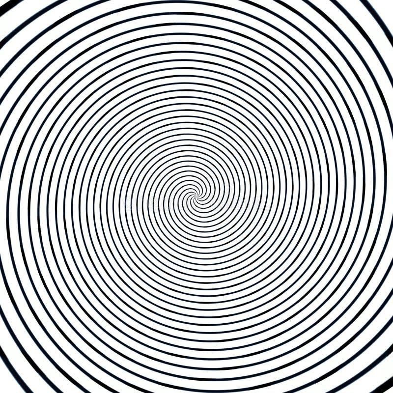 Ejemplo hipnótico de la ilusión abstracta del fondo, suposición del engaño ilustración del vector