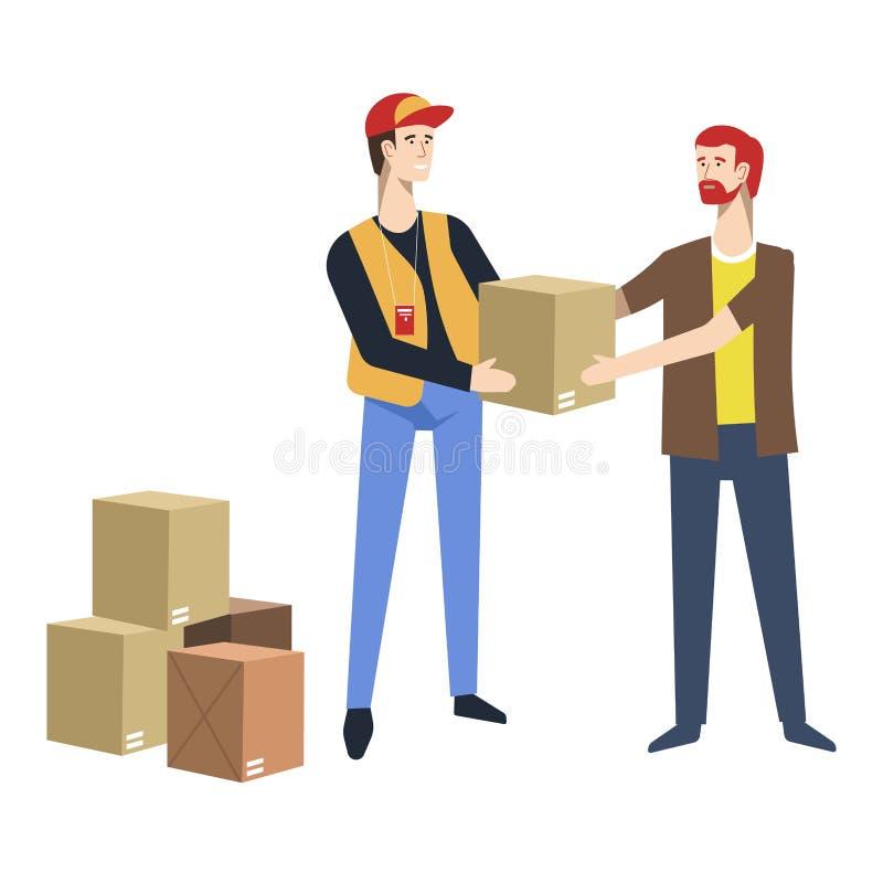 Cartón Humanitaria Ayuda ManoStock La Camión A Caja De UMSzGLqpjV