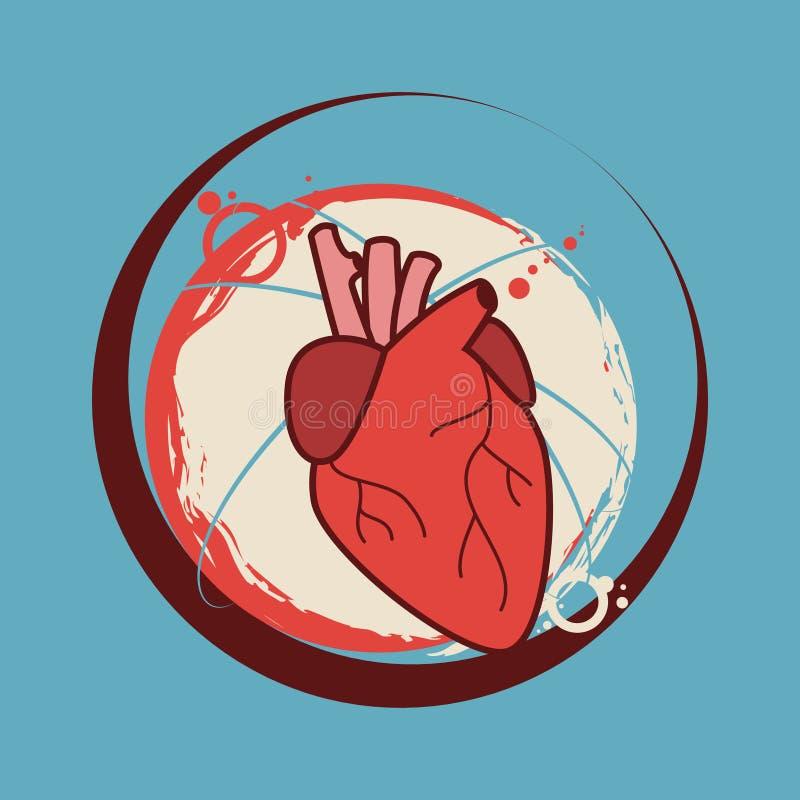 Ejemplo Humano Del Vector De La Etiqueta Engomada Del Corazón Médico ...