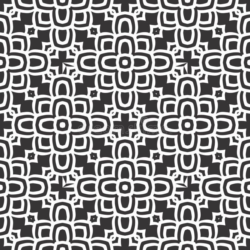 Ejemplo inconsútil blanco negro del fondo del modelo de n libre illustration
