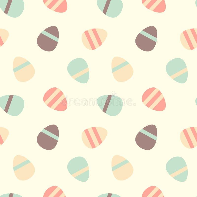 Ejemplo inconsútil colorido en colores pastel caliente del fondo del modelo de los huevos de Pascua ilustración del vector