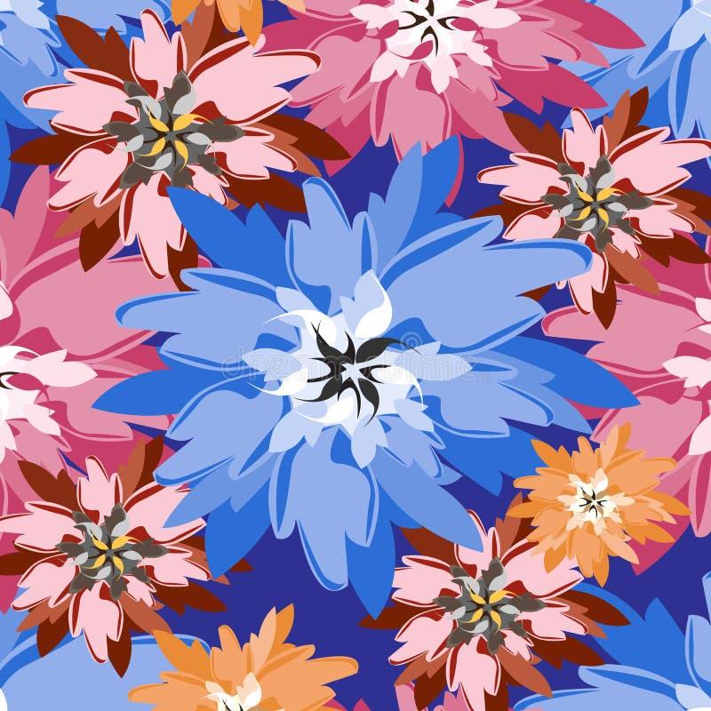 Ejemplo inconsútil de la flor de la primavera stock de ilustración