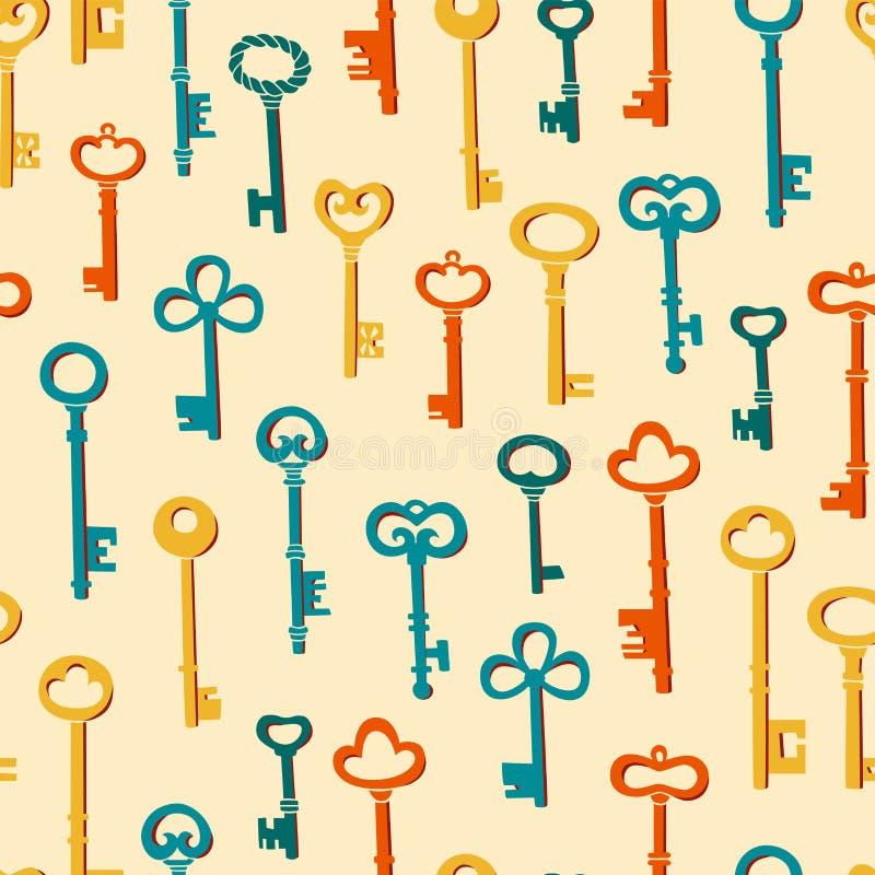 Ejemplo inconsútil de la llave del modelo Un sistema de diversas figuras claves libre illustration