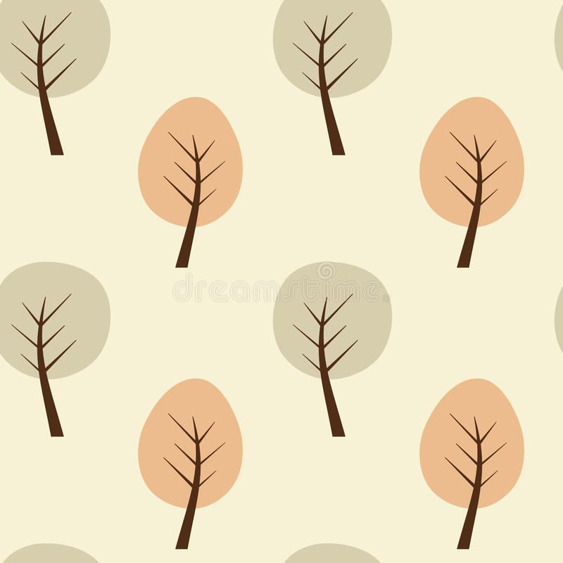 Ejemplo inconsútil del fondo del modelo del árbol geométrico abstracto libre illustration