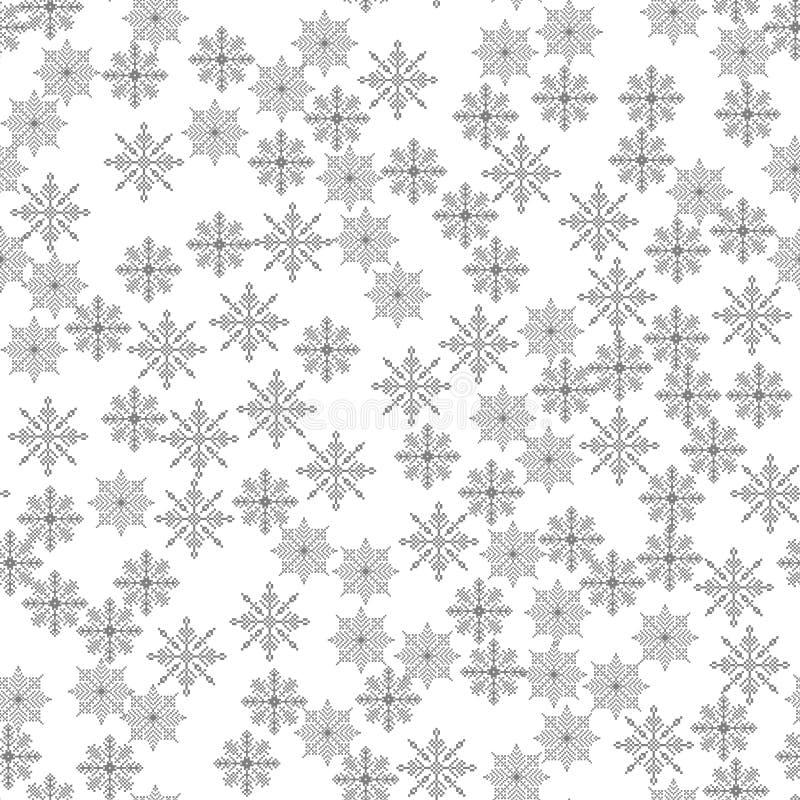 Ejemplo inconsútil del vector del fondo de la Navidad de la luz del modelo del copo de nieve el tema del invierno, Año Nuevo, día stock de ilustración