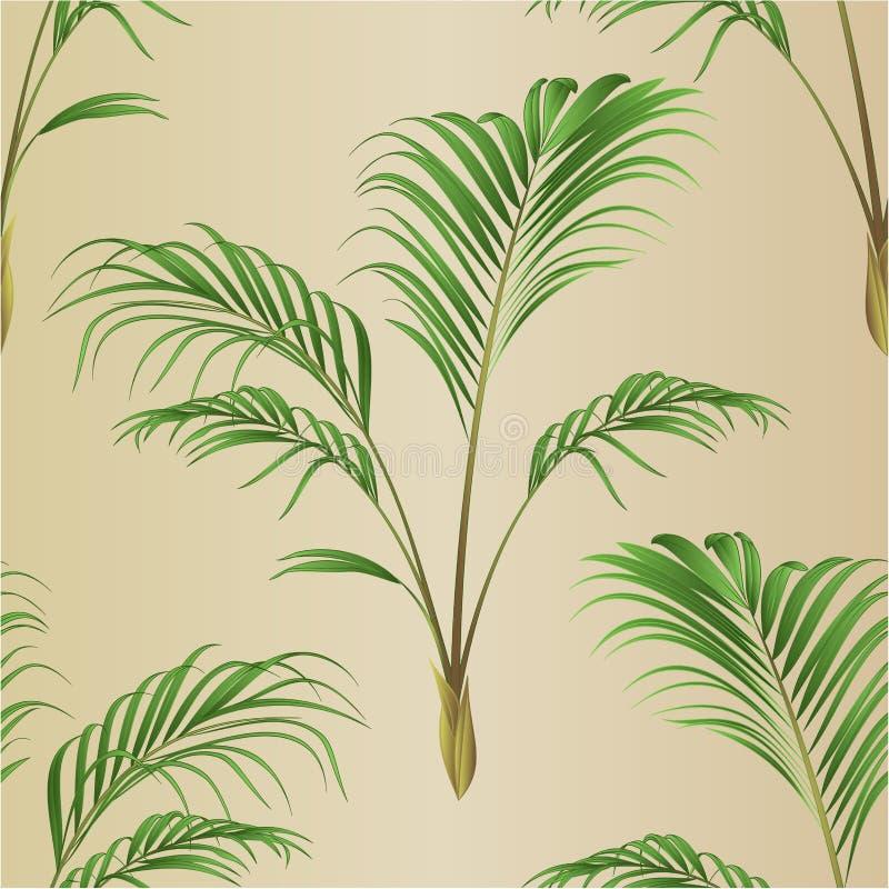 Ejemplo inconsútil del vector del vintage de la planta de la casa de la decoración de la palma de la textura editable libre illustration