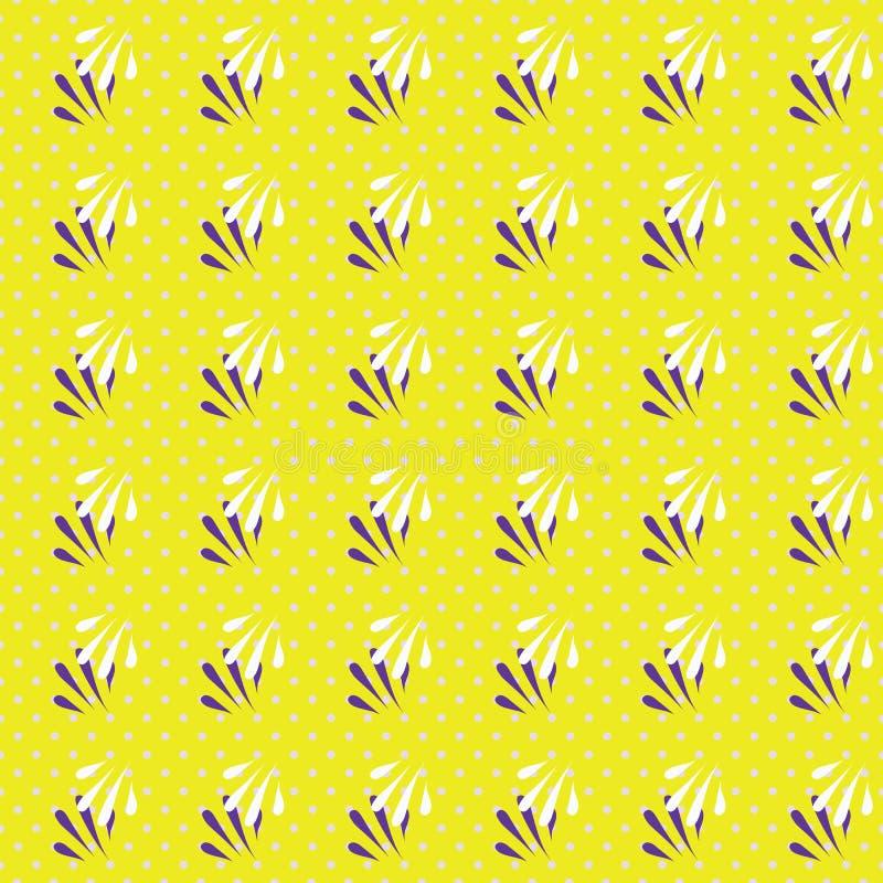 Ejemplo inconsútil geométrico del modelo de hojas y de puntos abstractos ilustración del vector