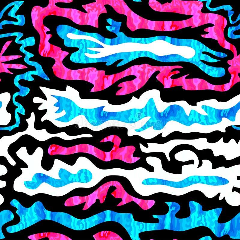 Download Ejemplo Inconsútil Psicodélico Brillante Del Vector Del Modelo De La Pintada Ilustración del Vector - Ilustración de decorativo, bohemio: 64205316