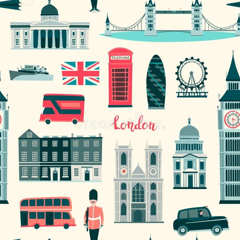 Ejemplo incons?til del vector del modelo de Londres libre illustration