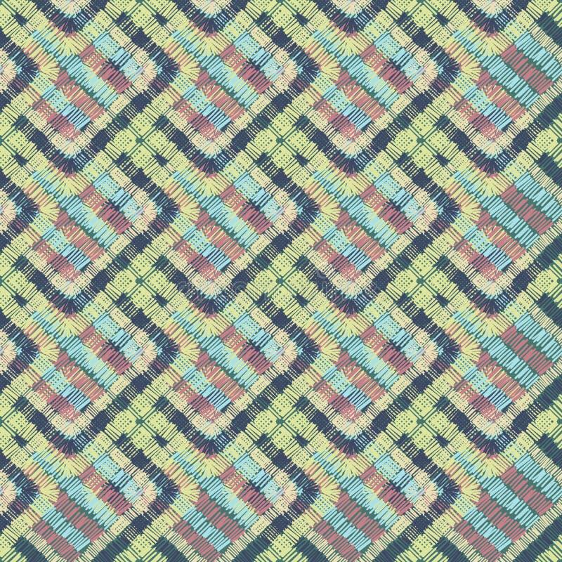 Ejemplo incons?til geom?trico del modelo de las formas abstractas del bordado ilustración del vector
