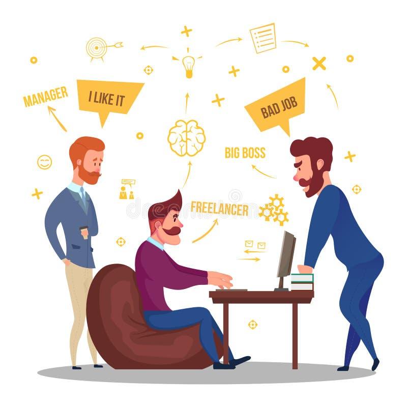 Ejemplo independiente de las relaciones de negocio stock de ilustración