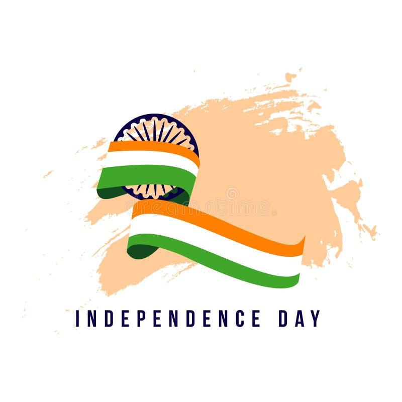 Ejemplo independiente del diseño de la plantilla del vector del día de la India ilustración del vector
