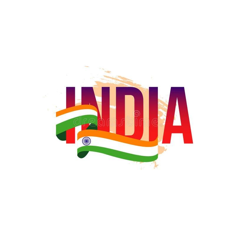 Ejemplo independiente del dise?o de la plantilla del vector del d?a de la India libre illustration