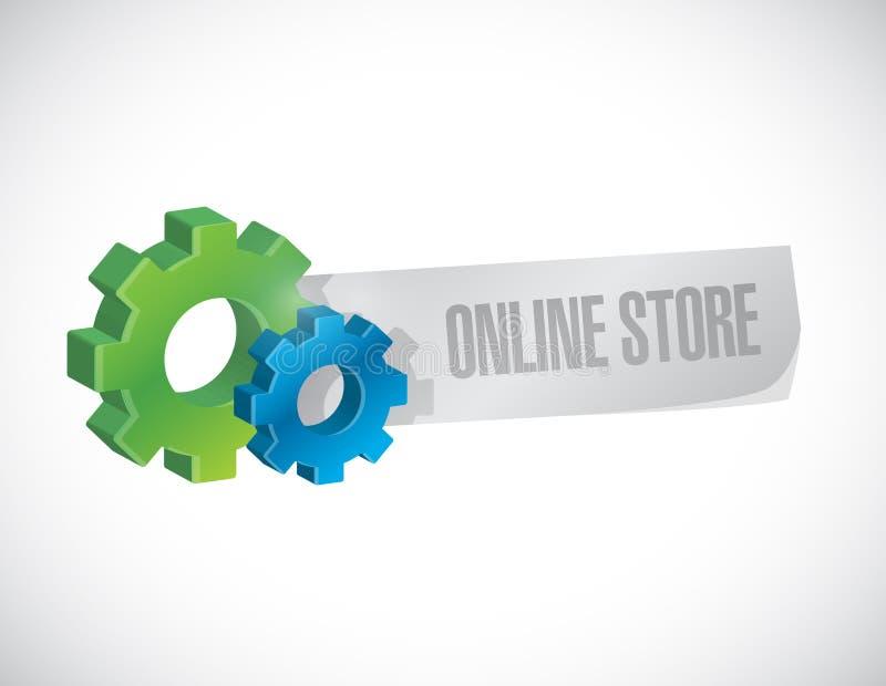 ejemplo industrial del concepto de la muestra de la tienda en línea libre illustration