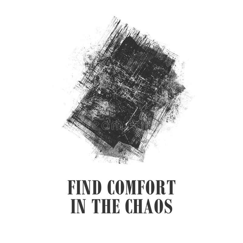 Ejemplo inspirado de la cita del caos libre illustration