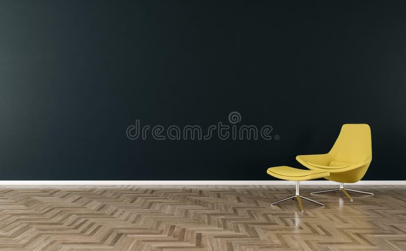 Ejemplo interior 3d de la silla a solas libre illustration