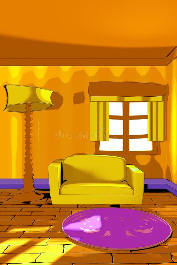 Ejemplo interior estilizado ilustración del vector