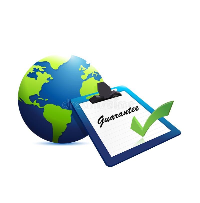 ejemplo internacional del concepto de la garantía imagenes de archivo