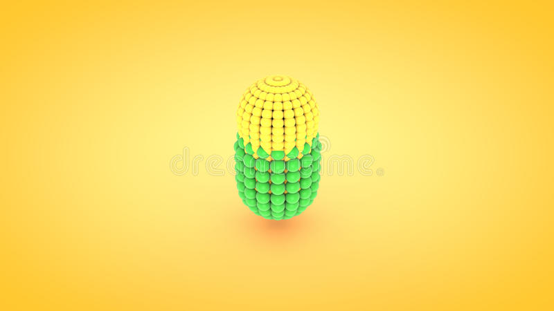 Ejemplo isométrico del arsenal del átomo de la cápsula, representación 3D stock de ilustración