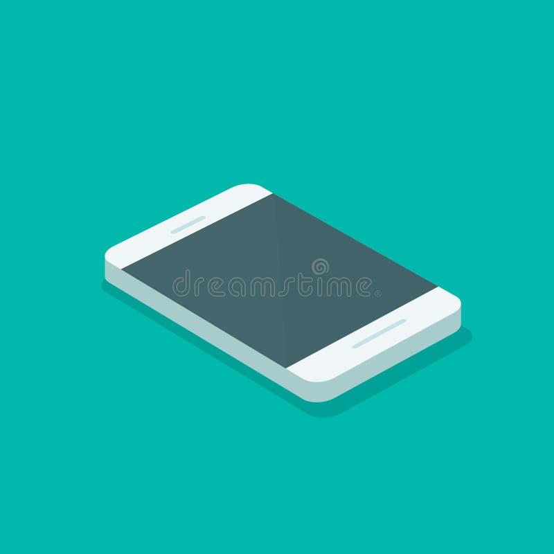 Ejemplo isométrico del vector de Smartphone, teléfono móvil en 3d aislado, clipart plano del estilo de la historieta del teléfono libre illustration