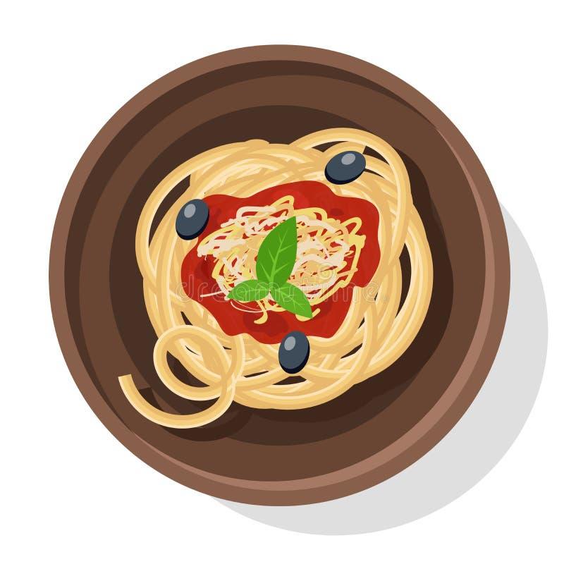 Ejemplo italiano del vector de las pastas ilustración del vector