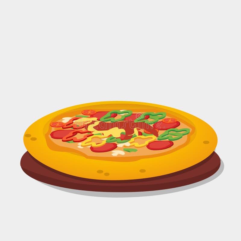 Ejemplo italiano sabroso del vector de la pizza libre illustration