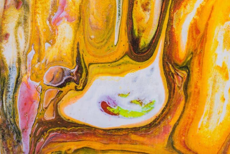 Ejemplo líquido abstracto flúido del arte Pintura acrílica en lona ilustración del vector
