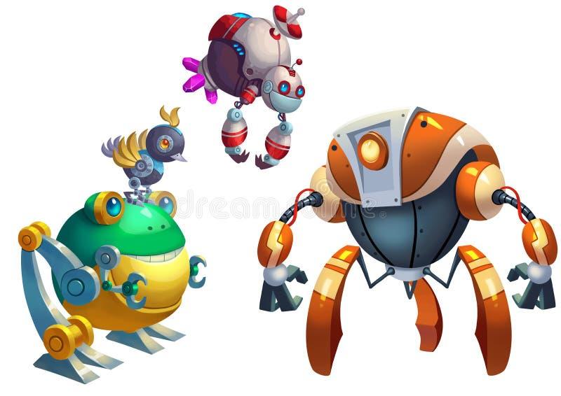 Ejemplo: La competencia del robot, la lucha comienza stock de ilustración