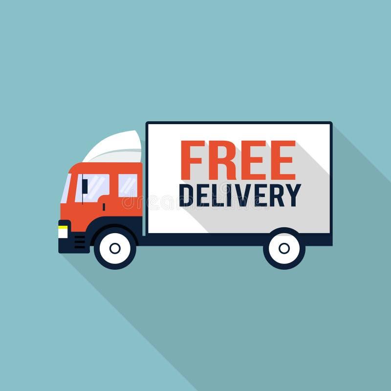 Ejemplo libre del camión de reparto stock de ilustración