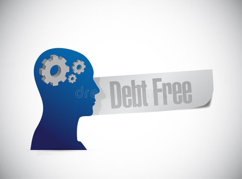 ejemplo libre del concepto de la muestra de la mente de la deuda ilustración del vector