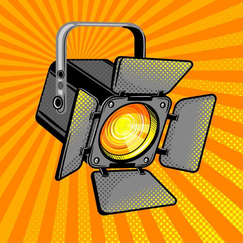 Ejemplo ligero del vector del estilo del cómic de la película ilustración del vector