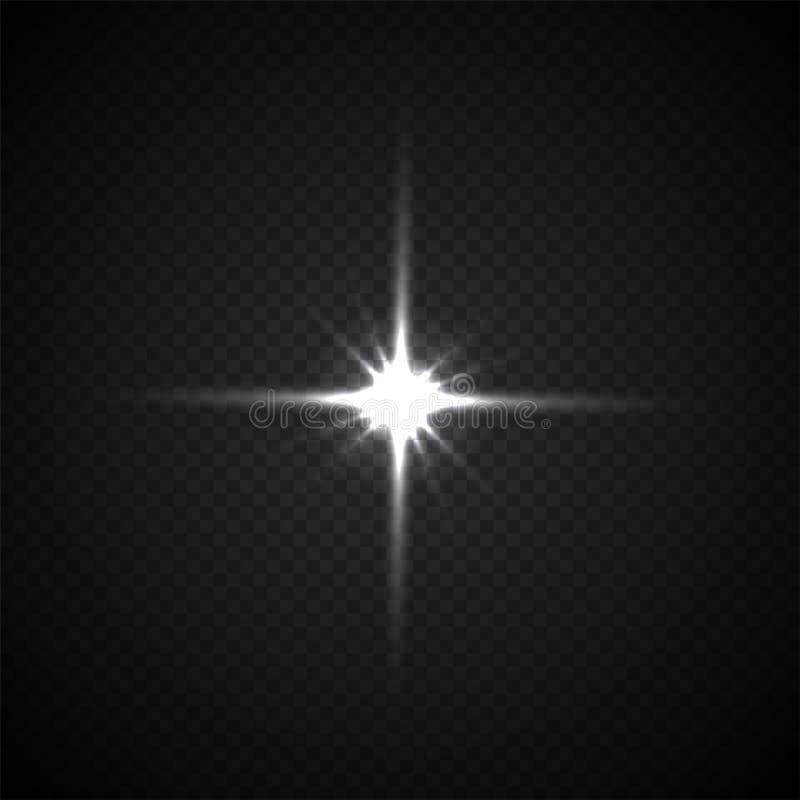 Ejemplo ligero del vector del flashe en fondo transparente stock de ilustración