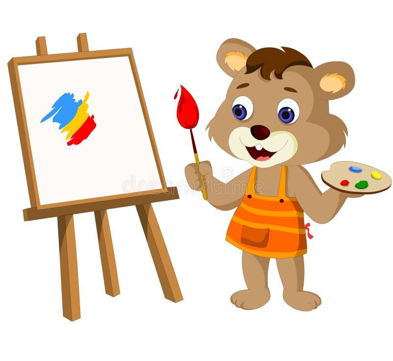 Ejemplo lindo de Cub de oso stock de ilustración