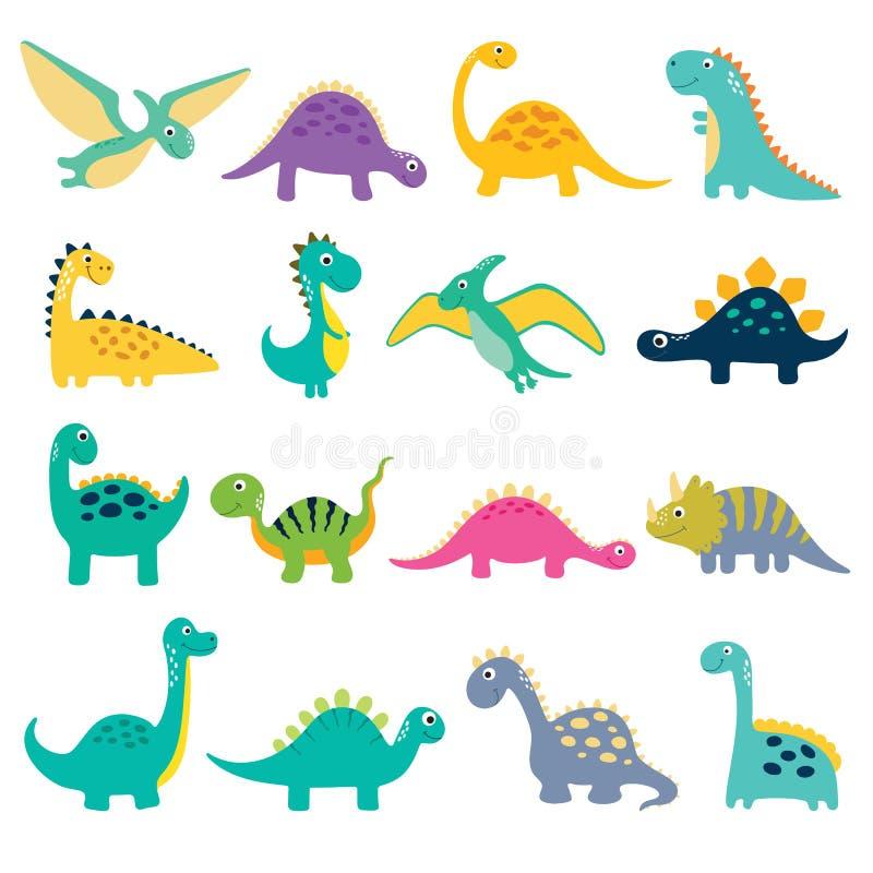 Ejemplo lindo de Dino stock de ilustración