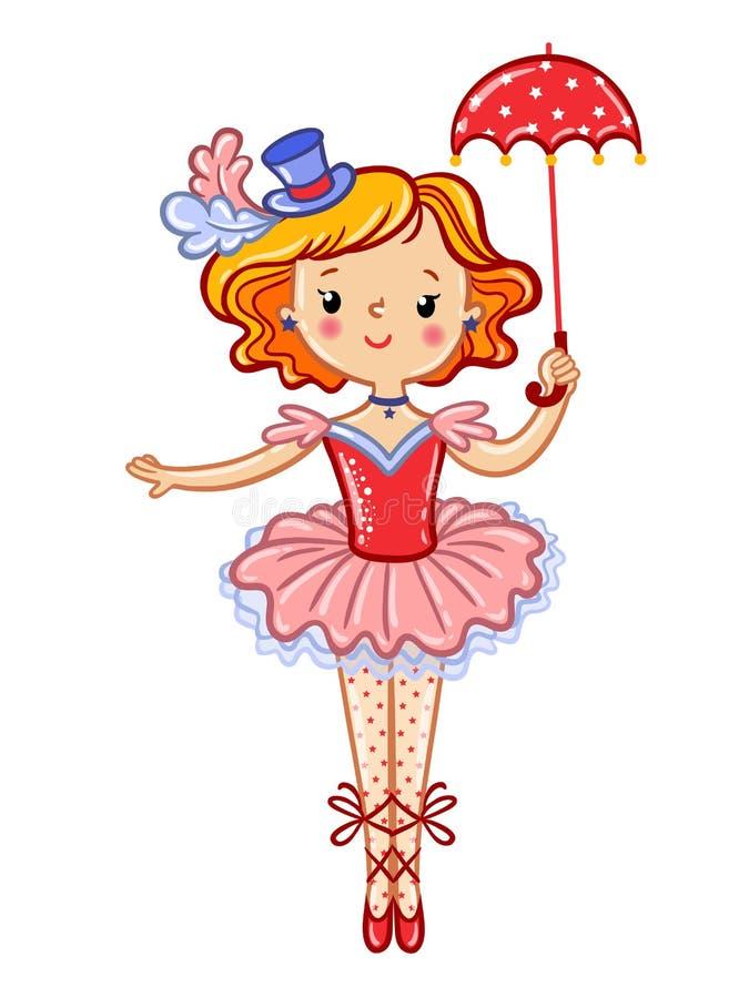 Ejemplo lindo de la muchacha del circo libre illustration