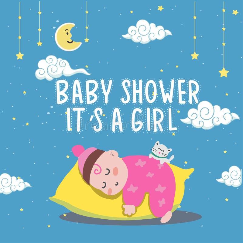 Ejemplo lindo del bebé o del niño pequeño libre illustration