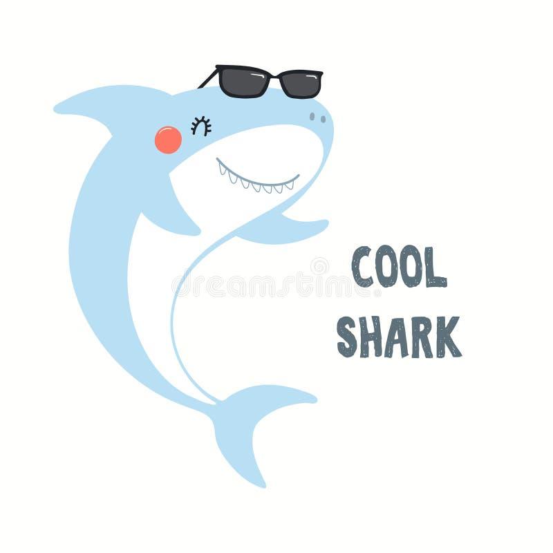 Ejemplo lindo del tiburón libre illustration