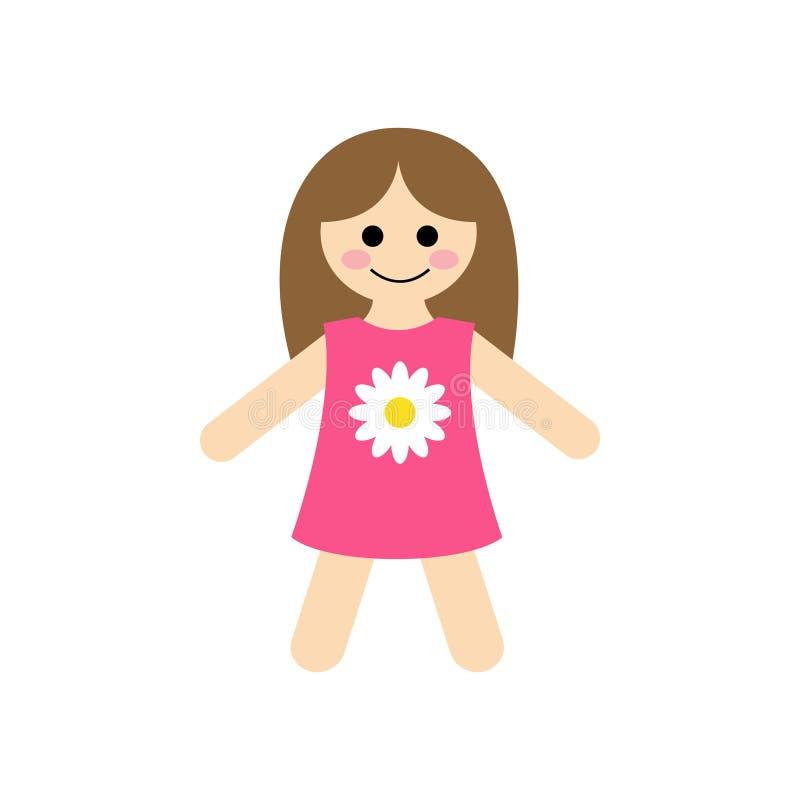 Ejemplo lindo del vector de la muñeca de trapo del bebé ilustración del vector