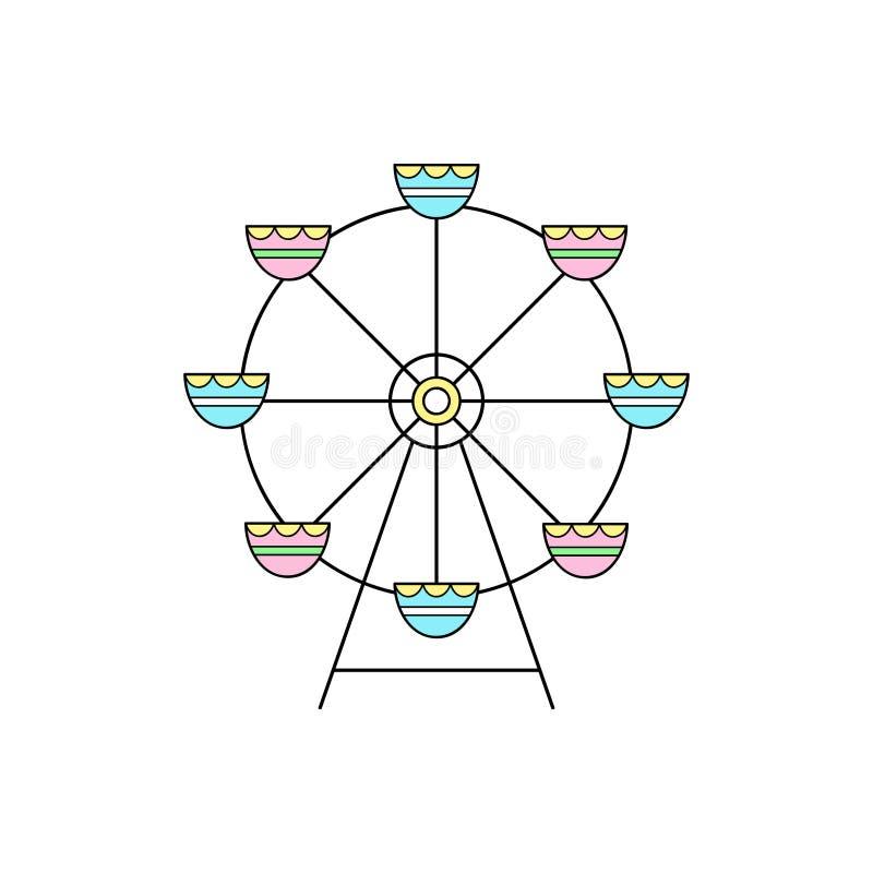 Ejemplo lindo del vector de la noria del funfair libre illustration