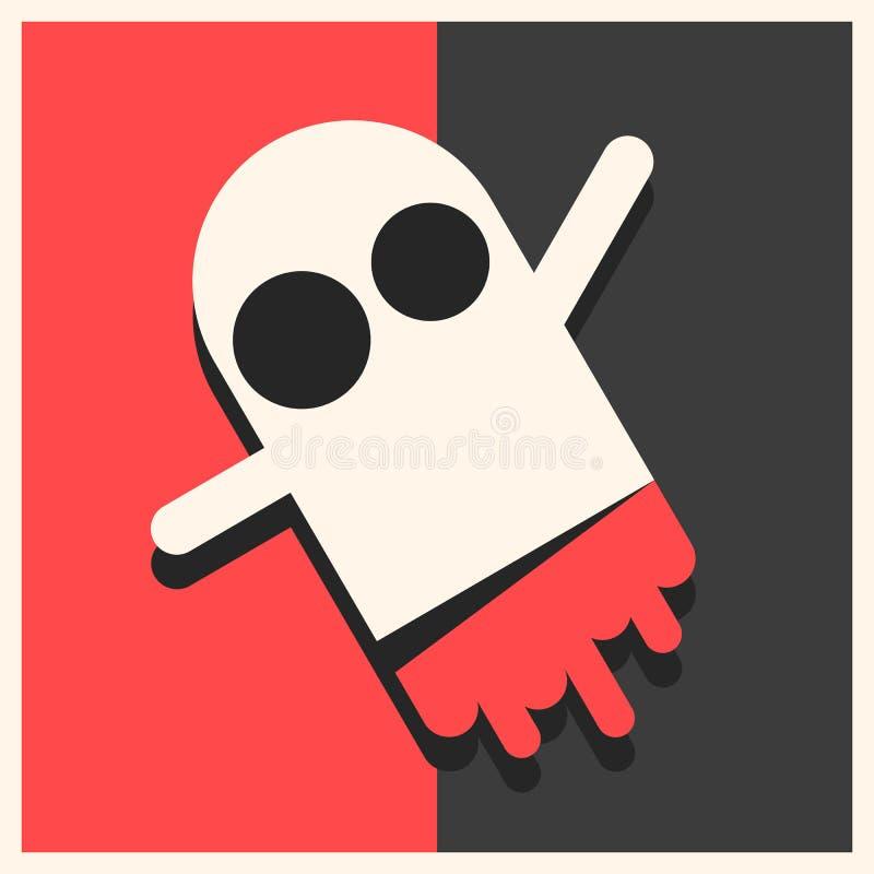 Ejemplo lindo del vector de Logo For Packaging And Design del monstruo stock de ilustración