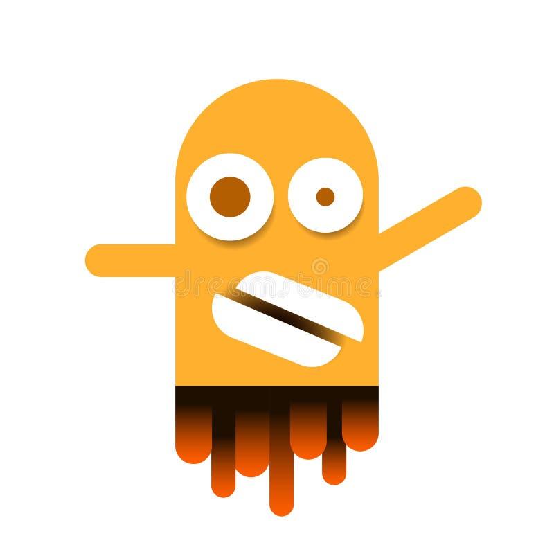 Ejemplo lindo del vector de Logo For Packaging And Design del monstruo libre illustration