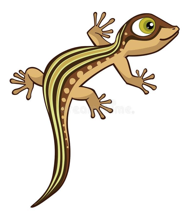 Ejemplo lindo del vector del lagarto de la historieta aislado en blanco libre illustration