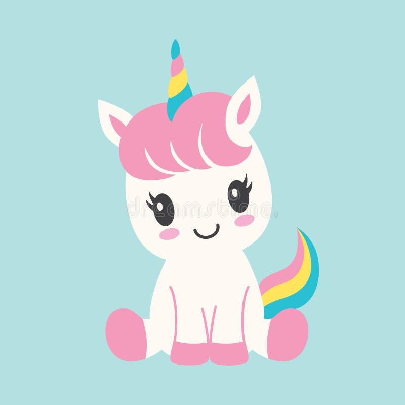 Ejemplo lindo del vector del unicornio del beb? stock de ilustración