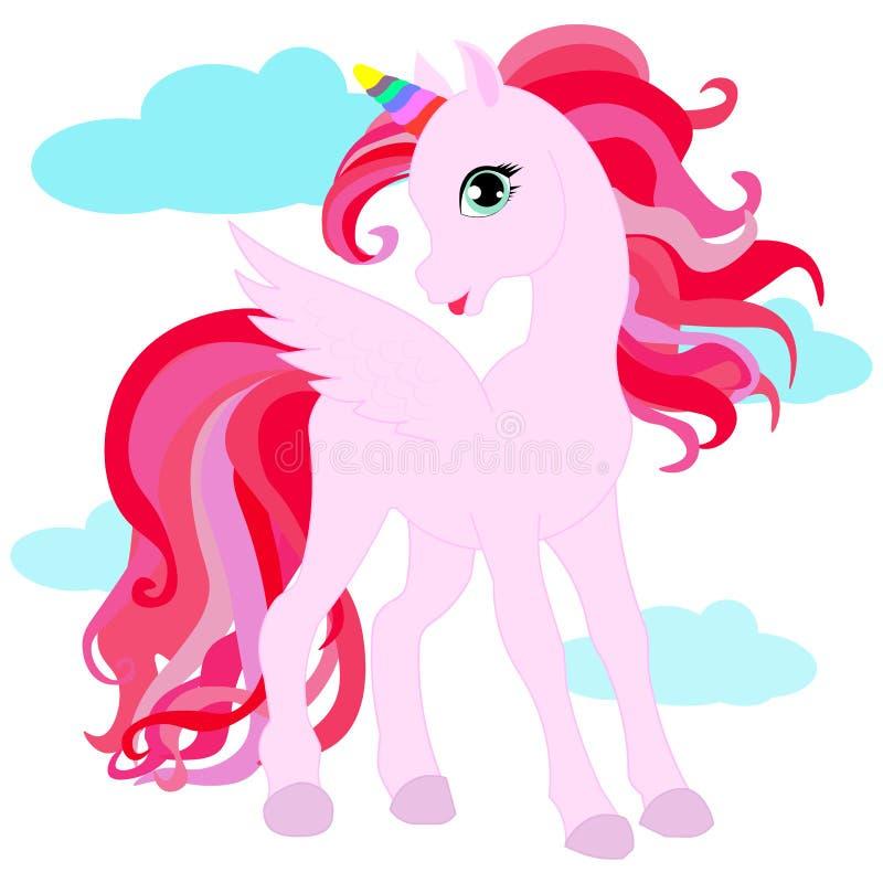 Ejemplo lindo del vector del unicornio de la web stock de ilustración