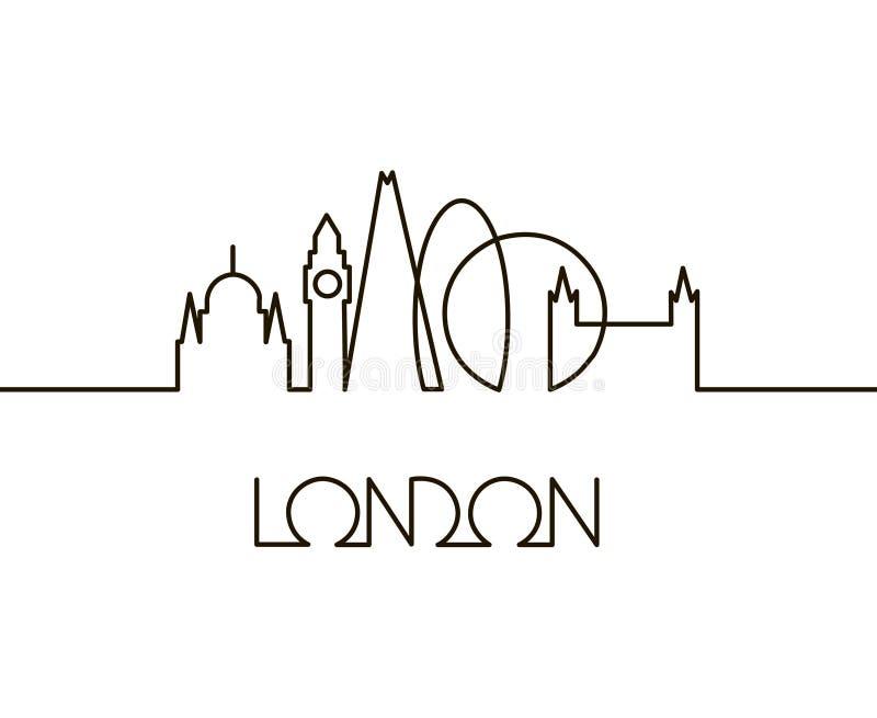 Ejemplo linear de la ciudad de Londres stock de ilustración