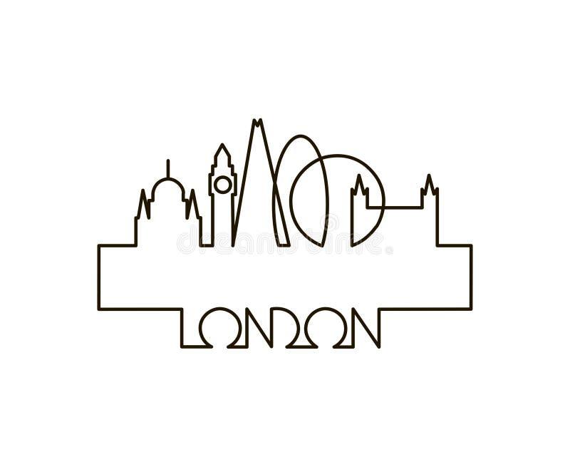 Ejemplo linear de la ciudad de Londres libre illustration
